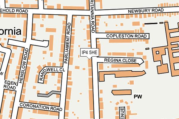 IP4 5HE map - OS OpenMap – Local (Ordnance Survey)