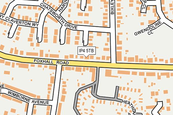 IP4 5TB map - OS OpenMap – Local (Ordnance Survey)
