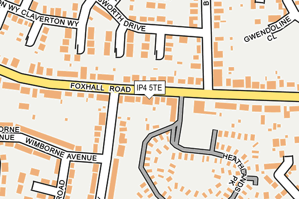IP4 5TE map - OS OpenMap – Local (Ordnance Survey)