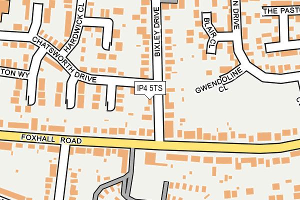 IP4 5TS map - OS OpenMap – Local (Ordnance Survey)