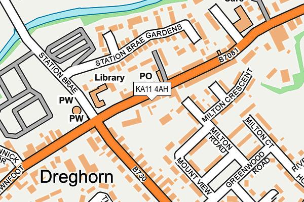 KA11 4AH map - OS OpenMap – Local (Ordnance Survey)