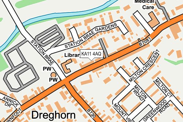 KA11 4AQ map - OS OpenMap – Local (Ordnance Survey)