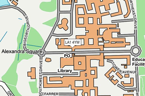 LA1 4YW map - OS OpenMap – Local (Ordnance Survey)