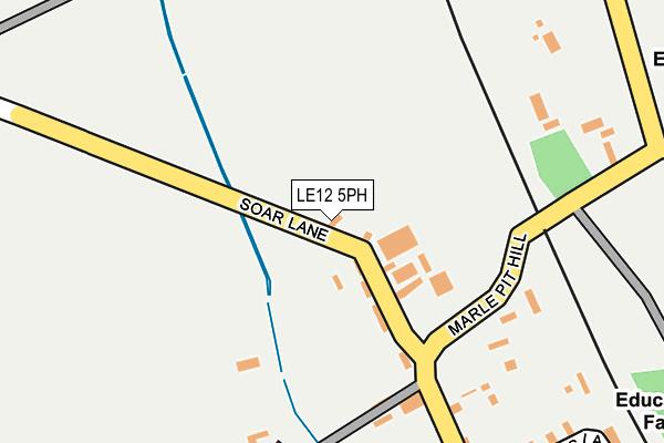 LE12 5PH map - OS OpenMap – Local (Ordnance Survey)