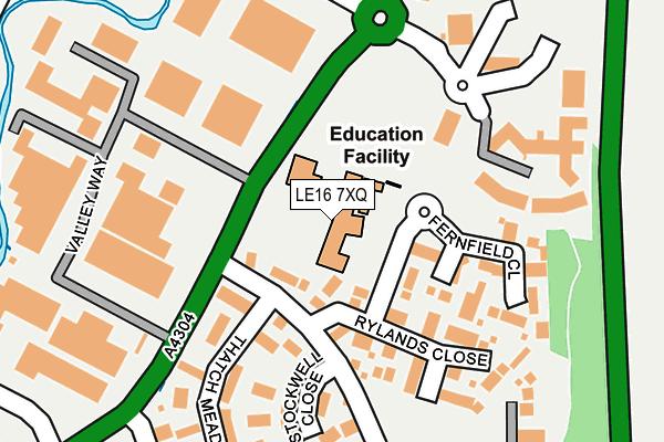 LE16 7XQ map - OS OpenMap – Local (Ordnance Survey)