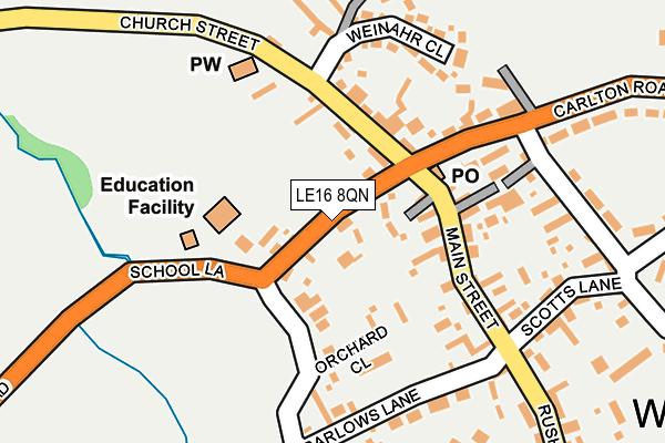LE16 8QN map - OS OpenMap – Local (Ordnance Survey)