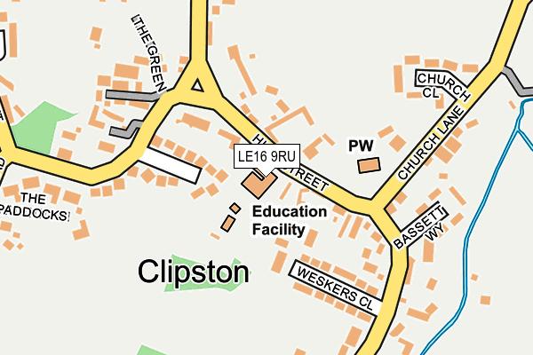 LE16 9RU map - OS OpenMap – Local (Ordnance Survey)