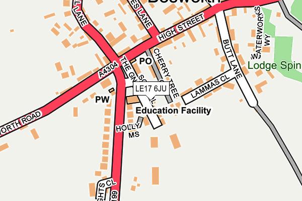 LE17 6JU map - OS OpenMap – Local (Ordnance Survey)
