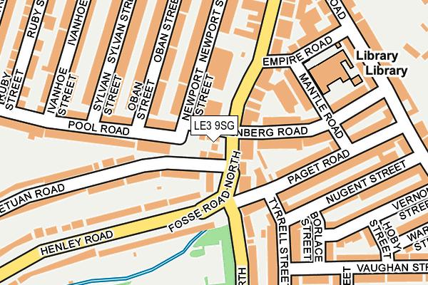 LE3 9SG maps