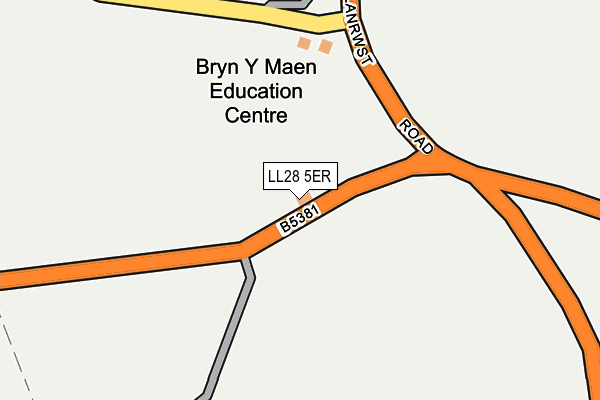 LL28 5ER map - OS OpenMap – Local (Ordnance Survey)