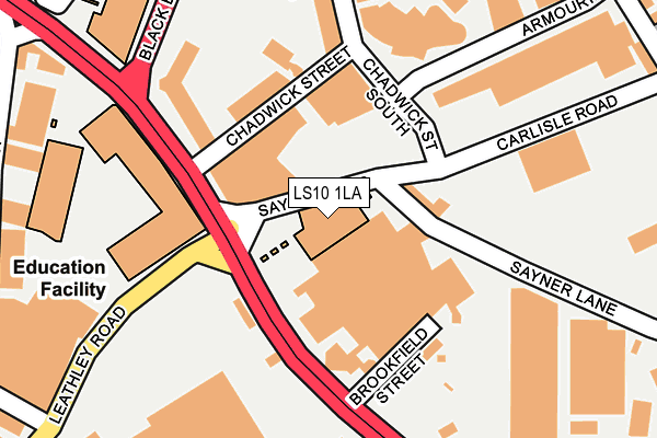 LS10 1LA map - OS OpenMap – Local (Ordnance Survey)