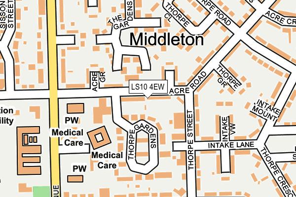 LS10 4EW map - OS OpenMap – Local (Ordnance Survey)