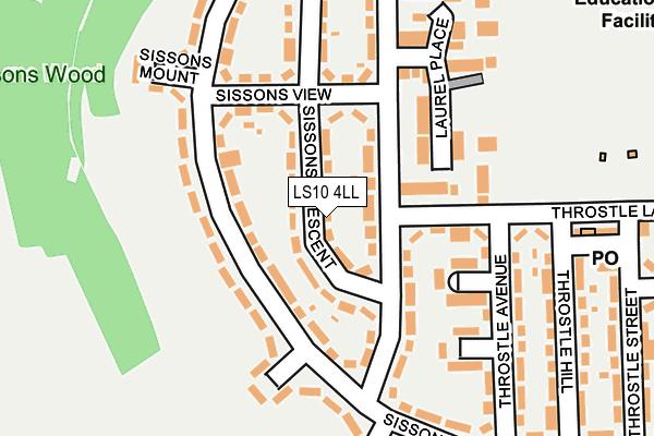 LS10 4LL map - OS OpenMap – Local (Ordnance Survey)