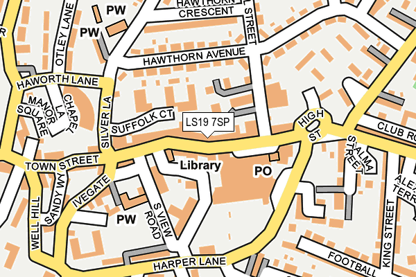 Map of HIRST PERSONAL TRAINING LIMITED at local scale
