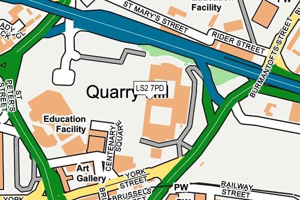 LS2 7PD map - OS OpenMap – Local (Ordnance Survey)