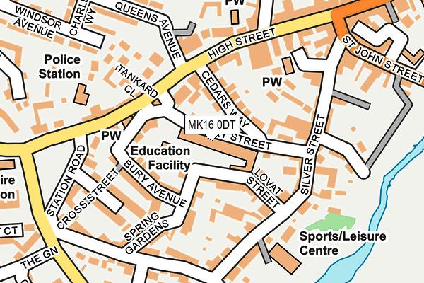 MK16 0DT map - OS OpenMap – Local (Ordnance Survey)