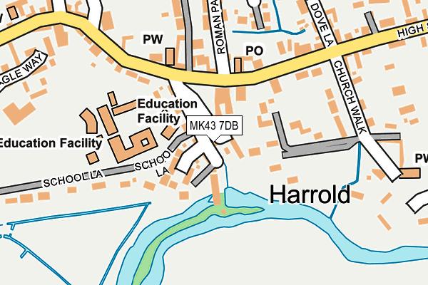 MK43 7DB map - OS OpenMap – Local (Ordnance Survey)