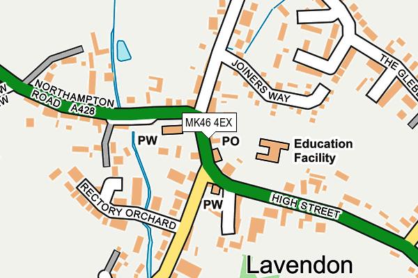 MK46 4EX map - OS OpenMap – Local (Ordnance Survey)