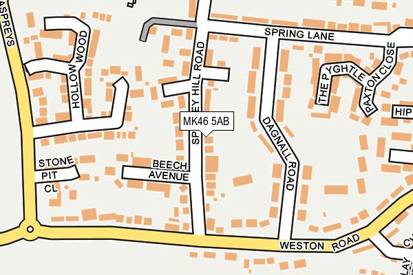 MK46 5AB map - OS OpenMap – Local (Ordnance Survey)