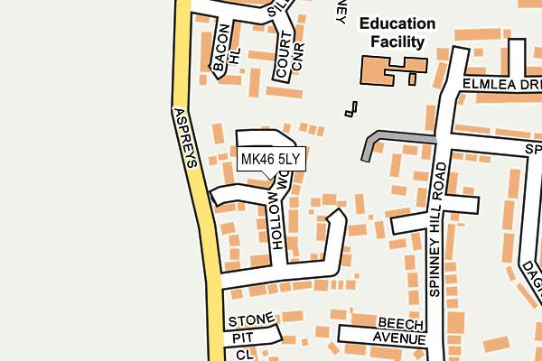 MK46 5LY map - OS OpenMap – Local (Ordnance Survey)