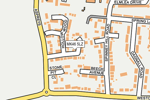 Map of OBD PROPERTIES LIMITED at local scale