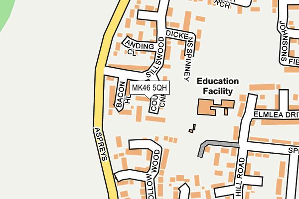 MK46 5QH map - OS OpenMap – Local (Ordnance Survey)