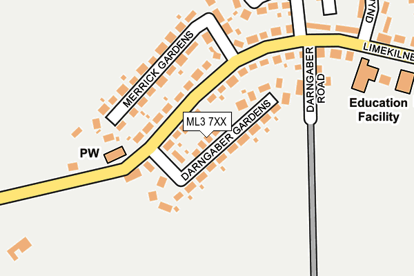 Map of MCD DESIGNS LTD. at local scale