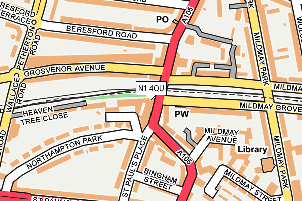 N1 4QU map - OS OpenMap – Local (Ordnance Survey)
