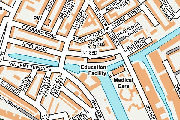 N1 8BD map - OS OpenMap – Local (Ordnance Survey)
