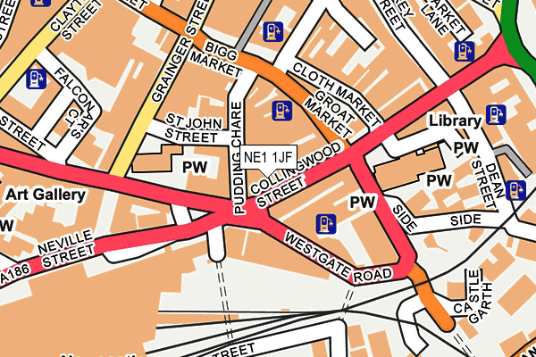 Map of GLENEYRE PROPERTIES LIMITED at local scale