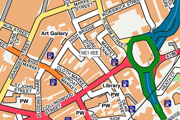 NE1 6EE map - OS OpenMap – Local (Ordnance Survey)
