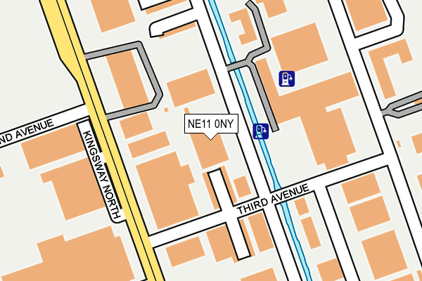 NE11 0NY map - OS OpenMap – Local (Ordnance Survey)