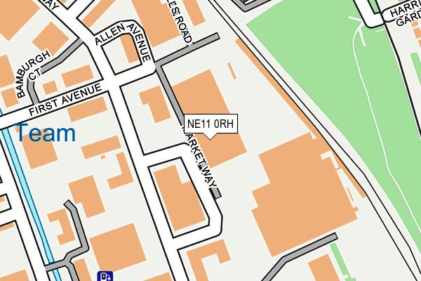 NE11 0RH map - OS OpenMap – Local (Ordnance Survey)