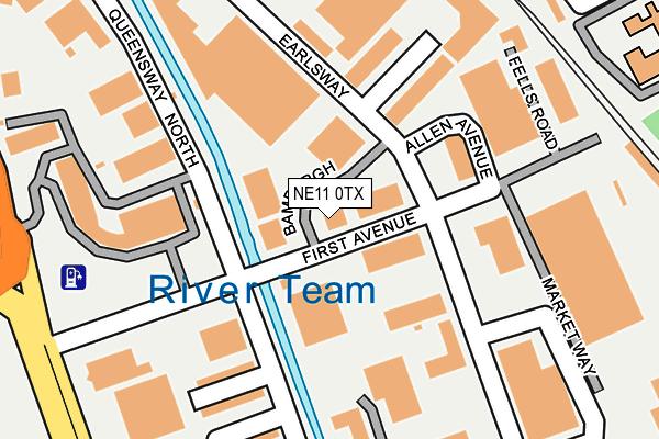 NE11 0TX map - OS OpenMap – Local (Ordnance Survey)