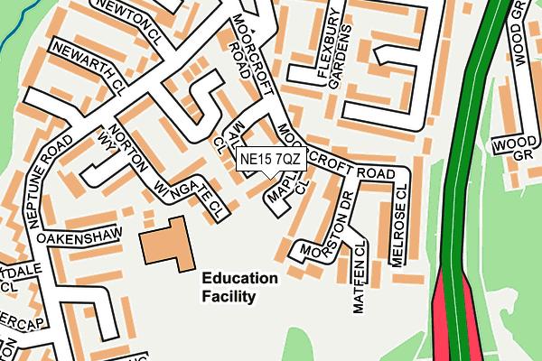 NE15 7QZ map - OS OpenMap – Local (Ordnance Survey)