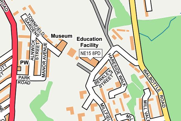 NE15 8PD map - OS OpenMap – Local (Ordnance Survey)