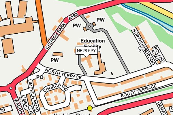 NE28 6PY map - OS OpenMap – Local (Ordnance Survey)
