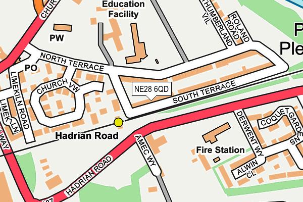 NE28 6QD map - OS OpenMap – Local (Ordnance Survey)