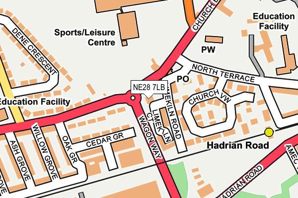 NE28 7LB map - OS OpenMap – Local (Ordnance Survey)