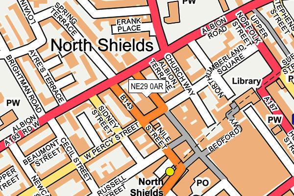 NE29 0AR map - OS OpenMap – Local (Ordnance Survey)