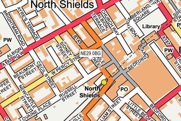 NE29 0BG map - OS OpenMap – Local (Ordnance Survey)