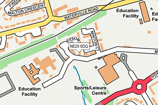 NE29 6DQ map - OS OpenMap – Local (Ordnance Survey)