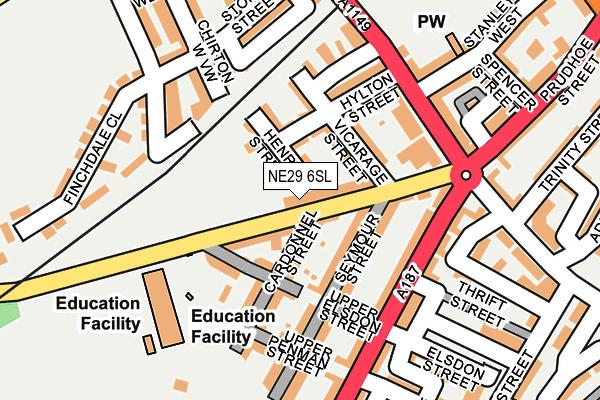 NE29 6SL map - OS OpenMap – Local (Ordnance Survey)