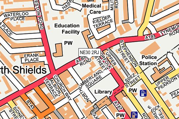 NE30 2RJ map - OS OpenMap – Local (Ordnance Survey)