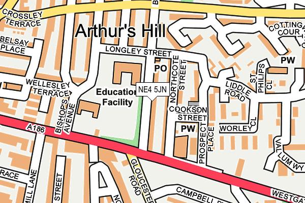 NE4 5JN map - OS OpenMap – Local (Ordnance Survey)
