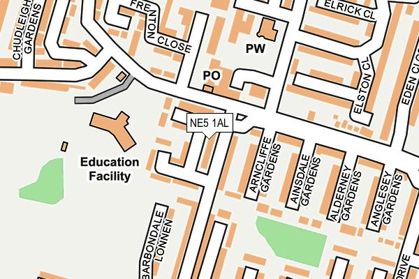 NE5 1AL map - OS OpenMap – Local (Ordnance Survey)