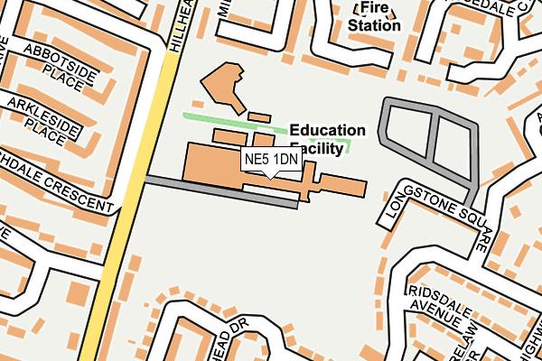 NE5 1DN map - OS OpenMap – Local (Ordnance Survey)
