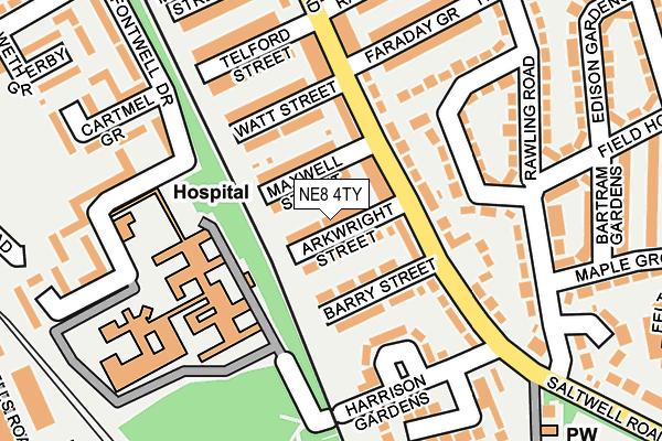 NE8 4TY map - OS OpenMap – Local (Ordnance Survey)