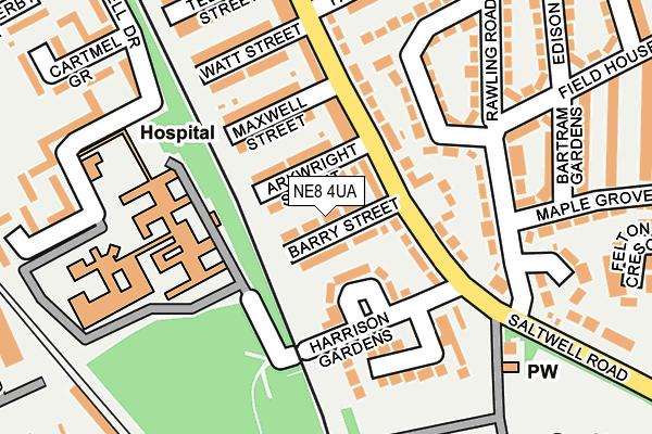NE8 4UA map - OS OpenMap – Local (Ordnance Survey)