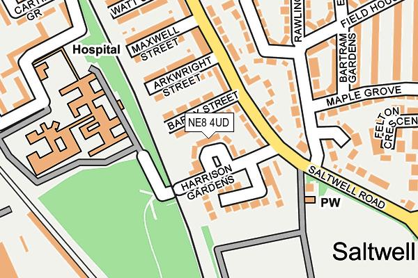 NE8 4UD map - OS OpenMap – Local (Ordnance Survey)